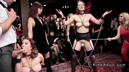Submissive sluts anal fucked at orgy party