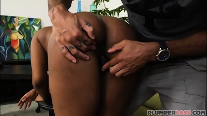 Busty Black Maserati XXX Takes on Huge Cock