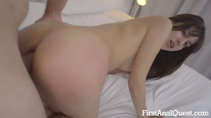 Anal Action With Shy Brunette