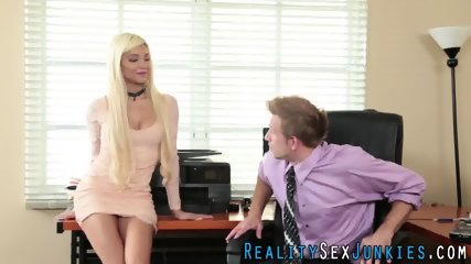 Real office blowjob