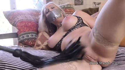 Teen and Milf in bondage waxing and fucking