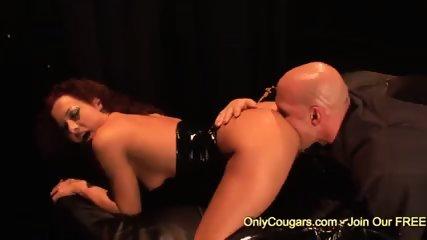 Hot Sandra Romain rides sexy on massive meat pole