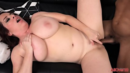 Round Mom Rides Black Dick - scene 5