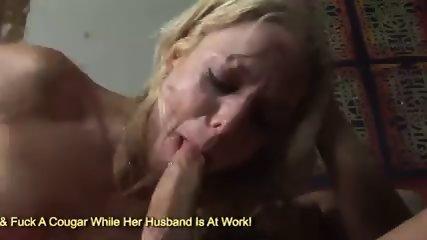 Slutty blonde Angela Stone gagging cock to cry
