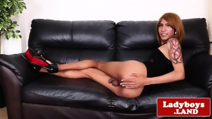 Idea You ladyboy her sofa teasing cock and curvy masturbates on for that interfere