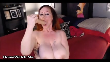Dirty Big Titted Mom Squirting Over Some Huge Toys - scene 3
