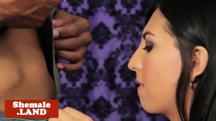 Rimmed tgirl drilled deeply by black cock