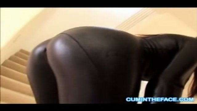 Tight Kenzie Lee unzips her catsuit-what a cock tease!