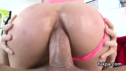 Exquisite doll presents big booty and gets anal drilled