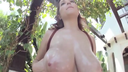 Oiled Quebec Big Tits Babe
