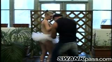 Tight ballerina tempted by cock - scene 9