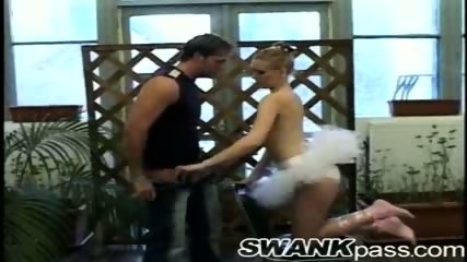 Tight ballerina tempted by cock - scene 10