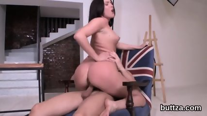 Striking slim kitten gets her juicy cunt and tiny ass hole screwed