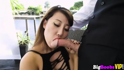 Busty Asian boss Tiffany Rain gets her wealthy pussy pleased