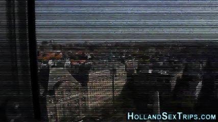 Real hooker gobbles dick - scene 2