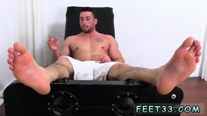 Gay twink hairy foot Casey More Jerked & Tickled