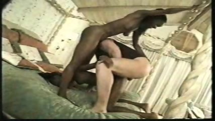 Two black Models sucking white Cock - scene 11