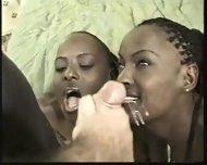 Two black Models sucking white Cock - scene 12