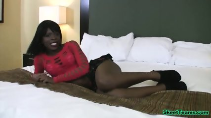 Amateur Ebony Slut Being Fucked By A Stranger.