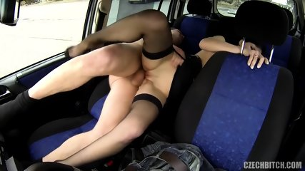 Hot Hitchhiker Banged In The Back Seat - scene 8