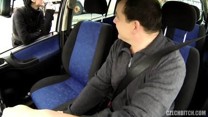 Hot Hitchhiker Banged In The Back Seat - scene 1