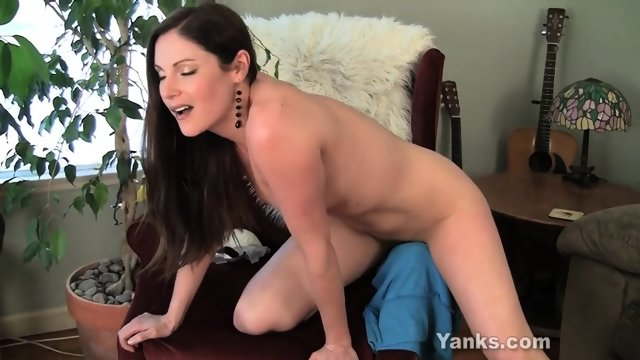 Solo Action By Attractive Brunette