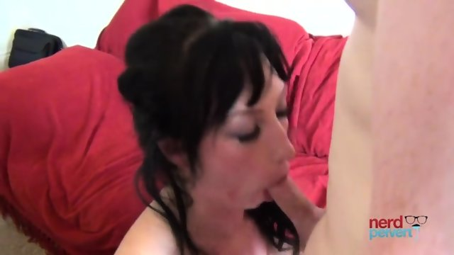 Dick In Amateur Brunette's Mouth