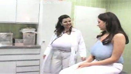 Patient examines her doctors huge boobs. - scene 1