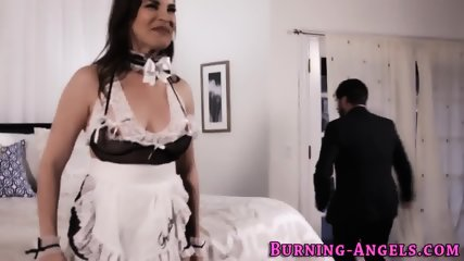 Gothic maid gets analized