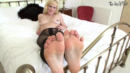 Playful Feet Of Cute Blonde