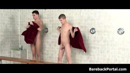 Friendly Shower Leads to Hard Anal Slamming