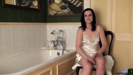Mature Lady Stimulates Her Hairy Pussy - scene 1