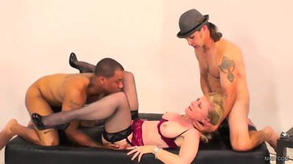 Housewife Has Fun With Two Guys