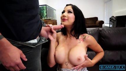 Busty Girl Fucked In Throat - scene 3
