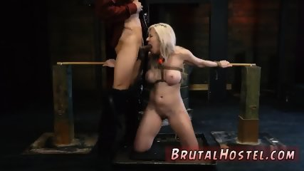 Rope anal bondage and sex slave gangbang hardcore Big-breasted blond beauty Cristi Ann is