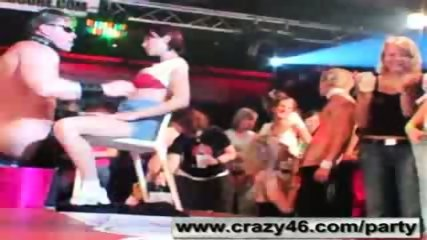 Babes getting drunk at CFNM Stripper Party - scene 11