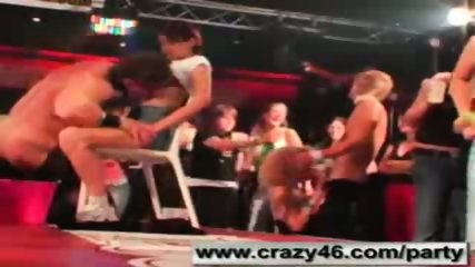 Babes getting drunk at CFNM Stripper Party - scene 12