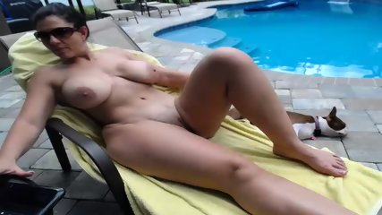 Couple Fucks By The Pool - scene 8