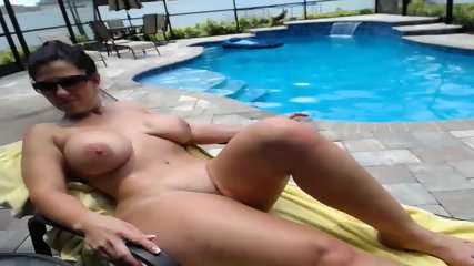 Couple Fucks By The Pool - scene 12