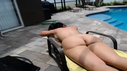 Couple Fucks By The Pool - scene 3