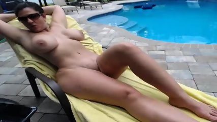 Couple Fucks By The Pool - scene 6