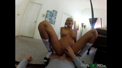 Busty Blonde Fucked Hard POV