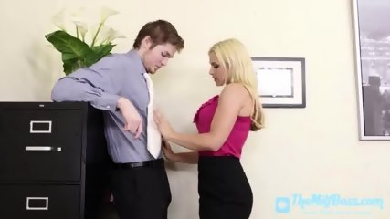 Penis Hungry Milf Fucked in the Office