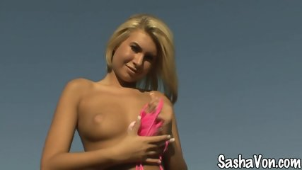 Tanned Lady Shows Her Body - scene 2