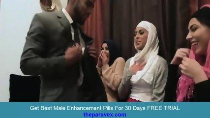 saudi 3 busty muslim girls enjoy dirty family party hardcore porn