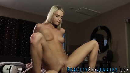 Real skinny blonde pounded - scene 8