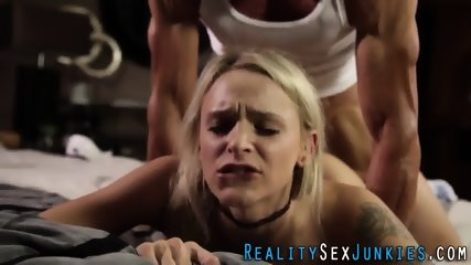 Real skinny blonde pounded - scene 12