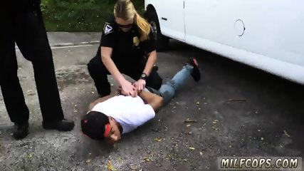 Milf spit Don t be ebony and suspicious around Black Patrol cops or else - scene 3