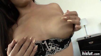 Pretty girl has fun with a black dick - scene 1