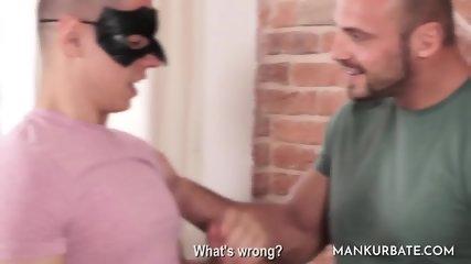 Bald stud bang s masked friend s ass - scene 2